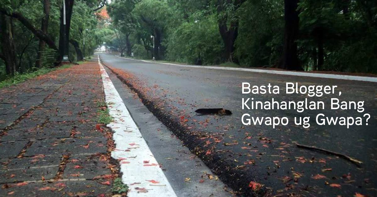 Basta Blogger, Kinahanglan Bang Gwapo ug Gwapa?